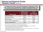 national and regional trends payment trends continued
