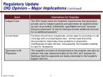 regulatory update oig opinion major implications continued