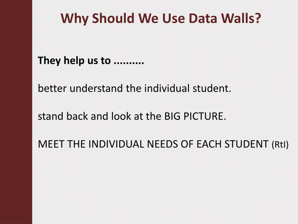 Why Should We Use Data Walls?