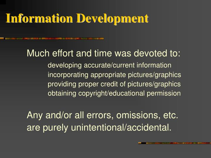 Information development