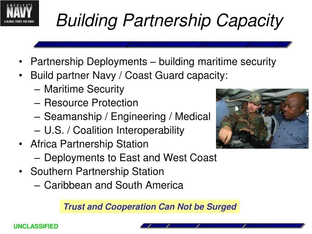 Partnership Deployments – building maritime security