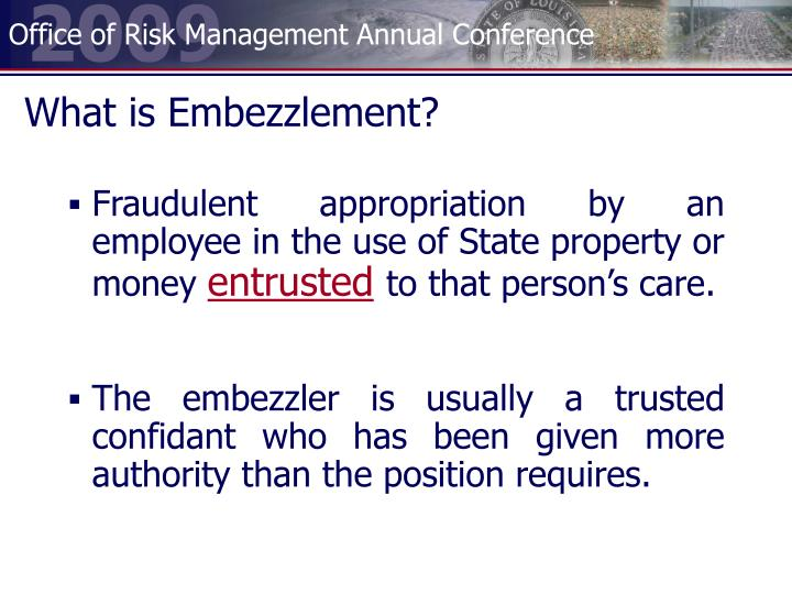 What is Embezzlement?
