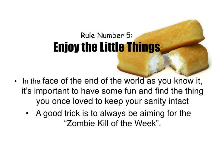 Rule Number 5: