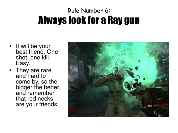 Rule Number 6: