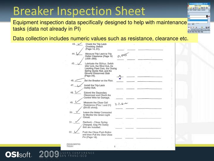 Breaker Inspection Sheet