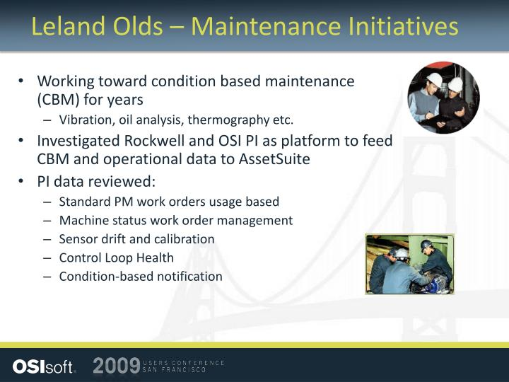 Leland Olds – Maintenance Initiatives