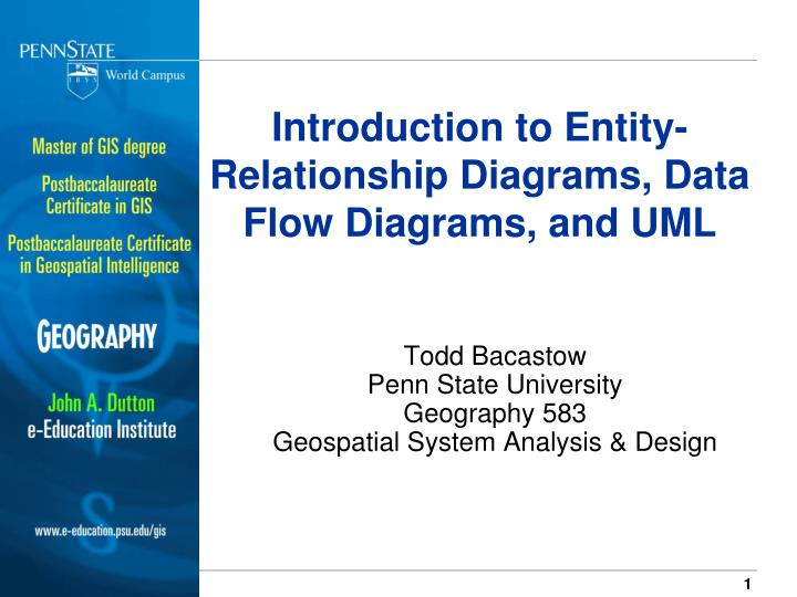 Introduction to entity relationship diagrams data flow diagrams and uml