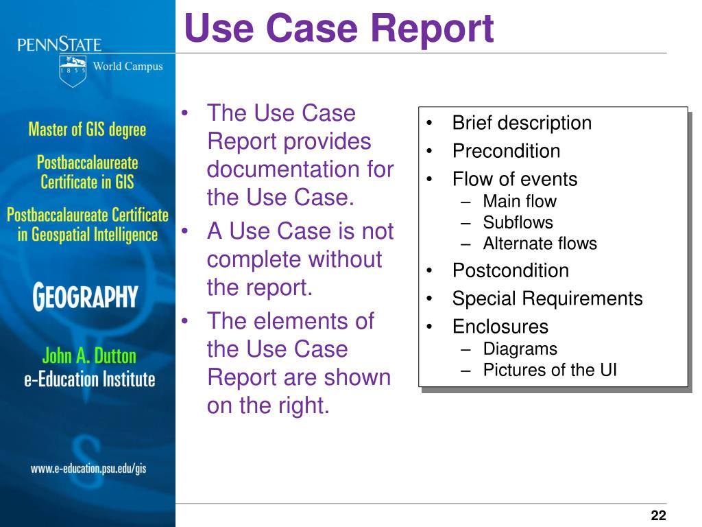 Use Case Report