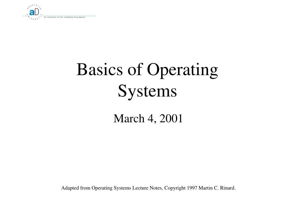 basics of operating systems