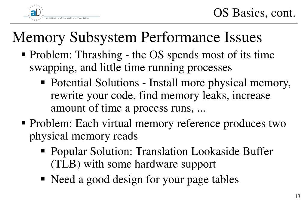 OS Basics, cont.
