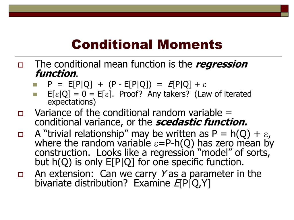 Conditional Moments