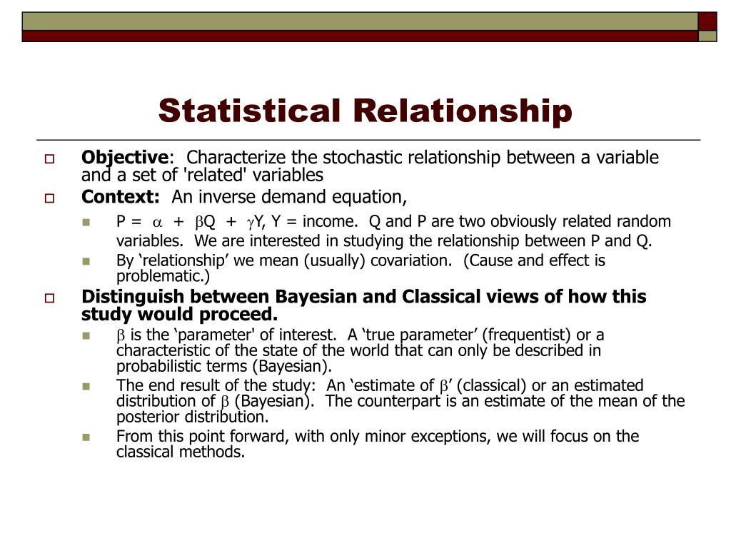 Statistical Relationship
