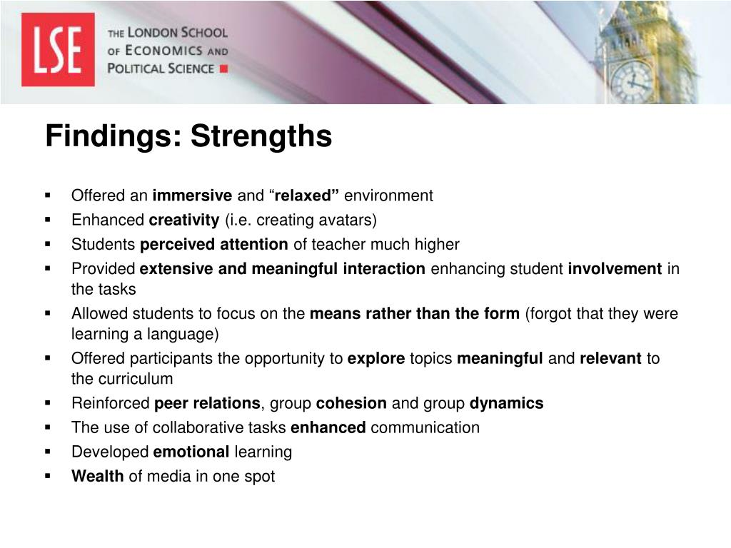 Findings: Strengths