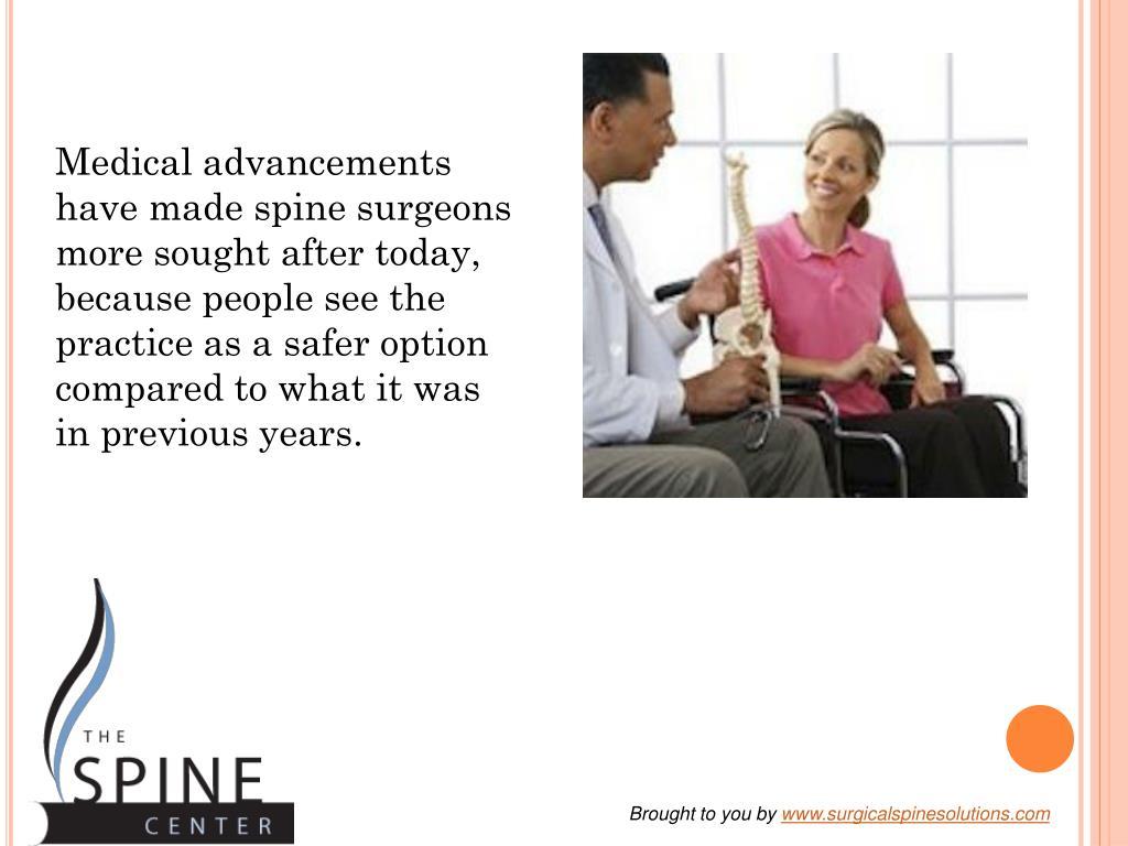 Medical advancements