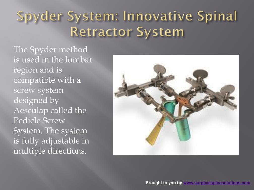 Spyder System: Innovative Spinal Retractor System