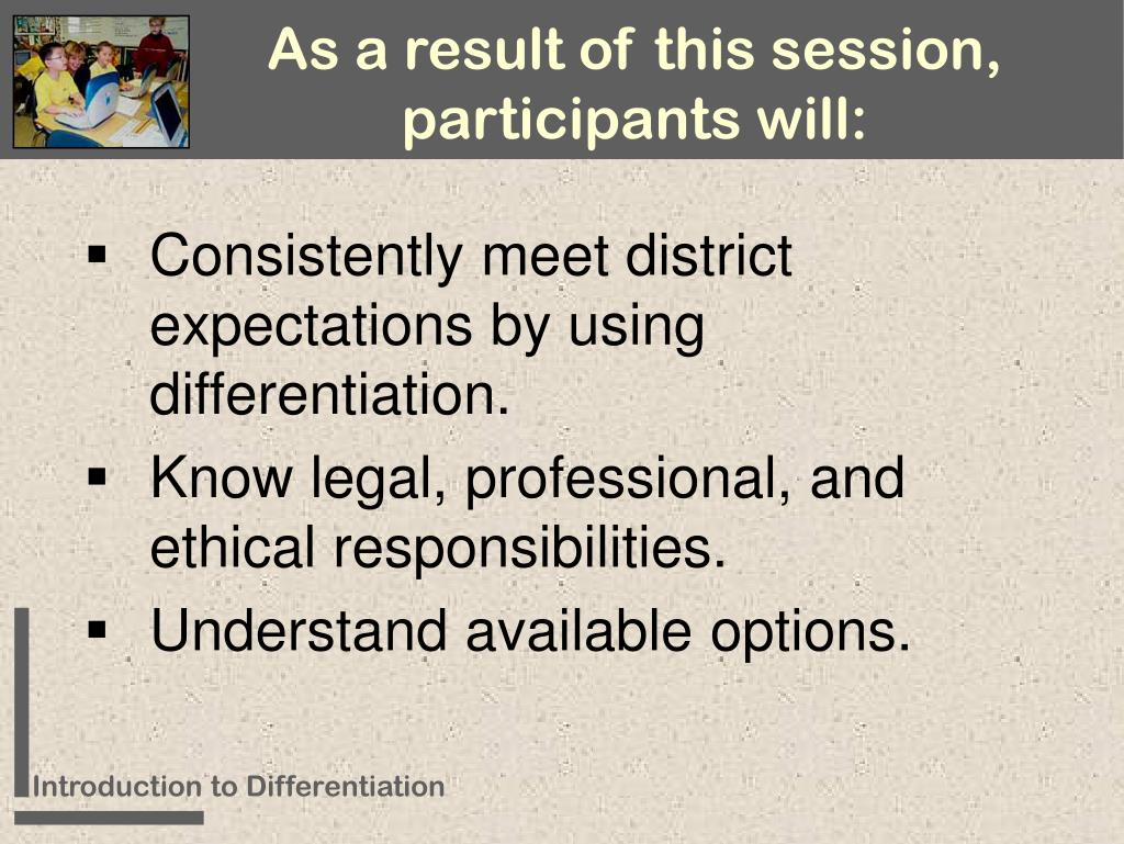 As a result of this session, participants will:
