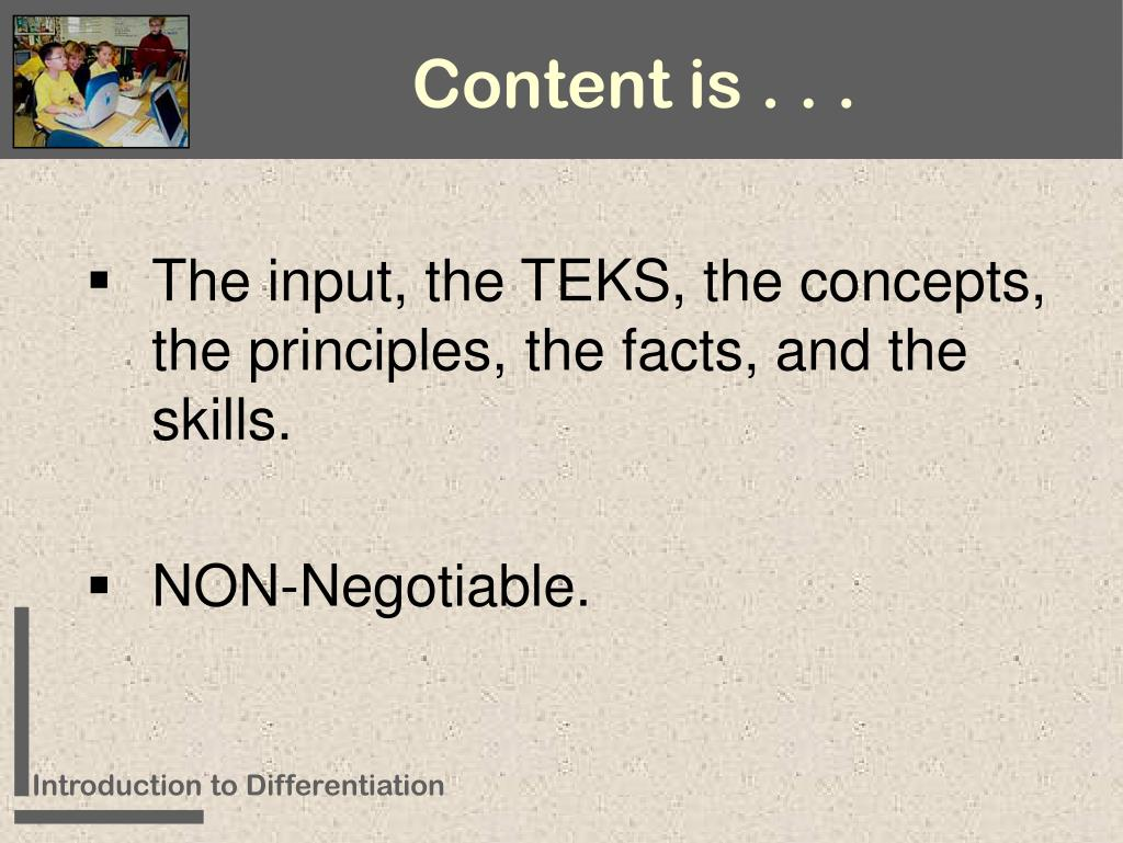 Content is . . .