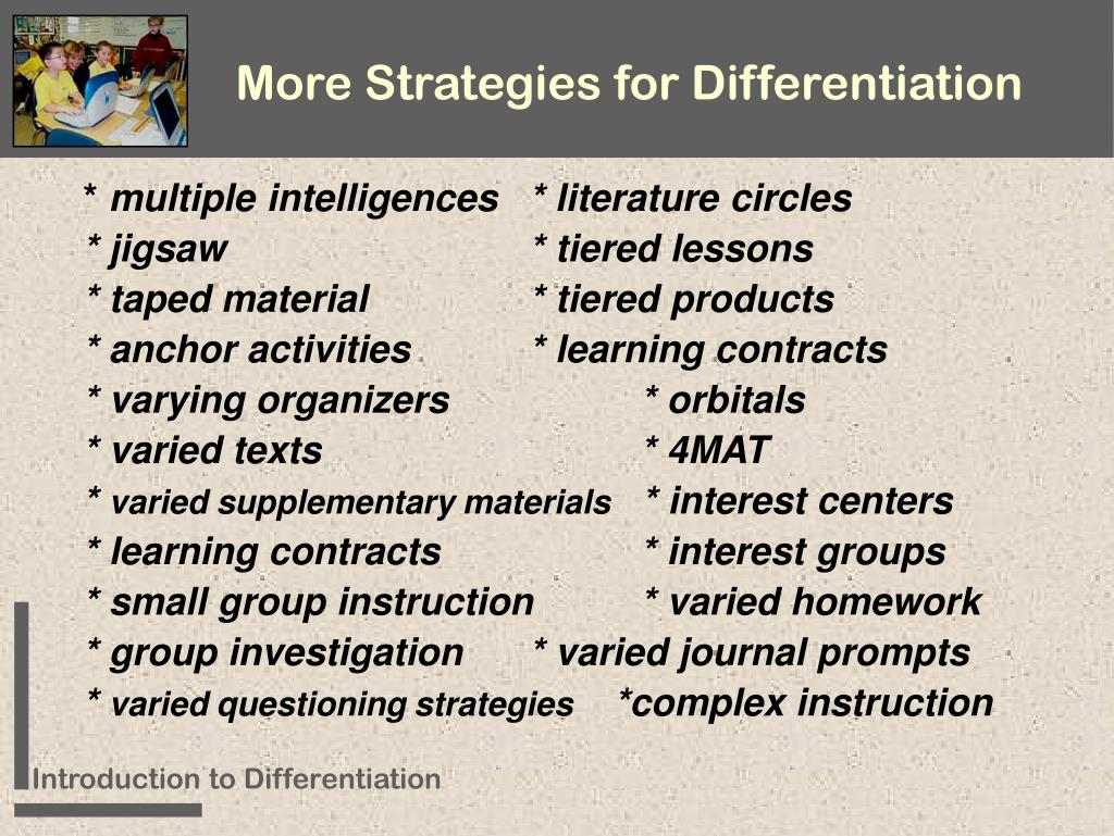 More Strategies for Differentiation