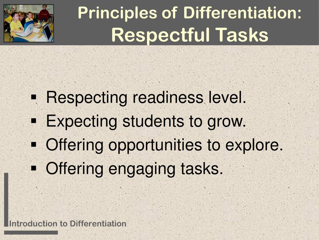Principles of Differentiation: