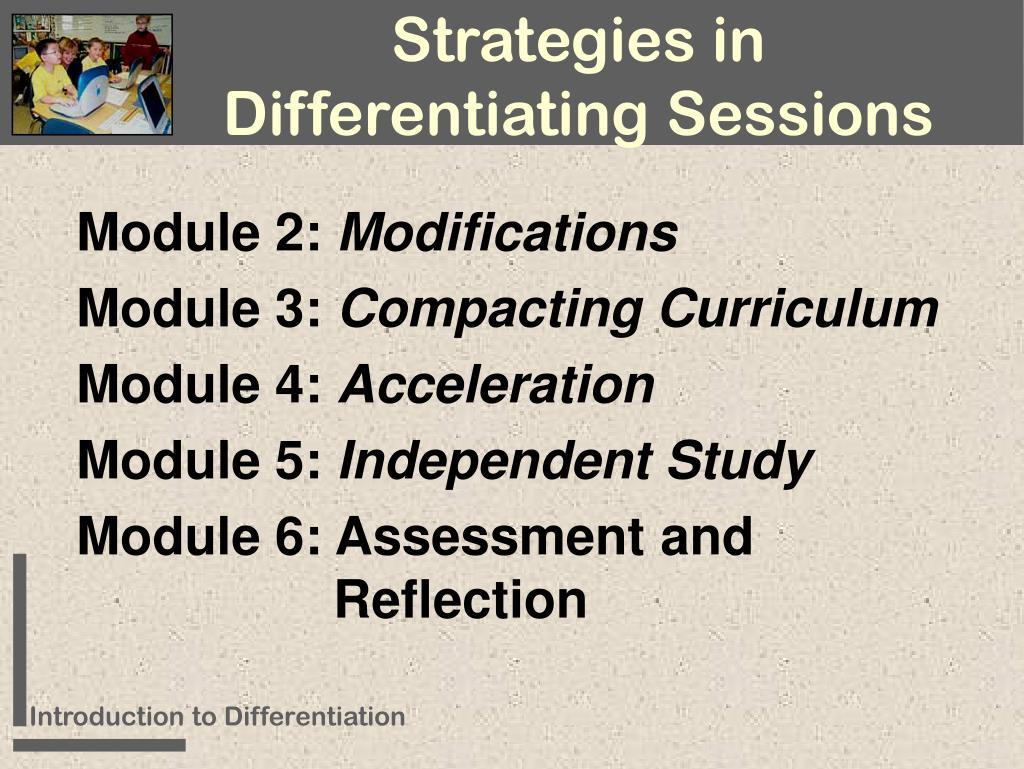 Strategies in Differentiating Sessions