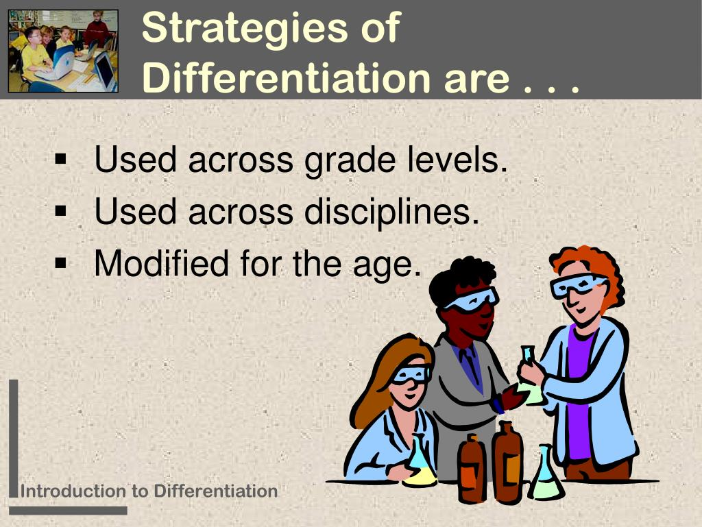 Strategies of Differentiation are . . .