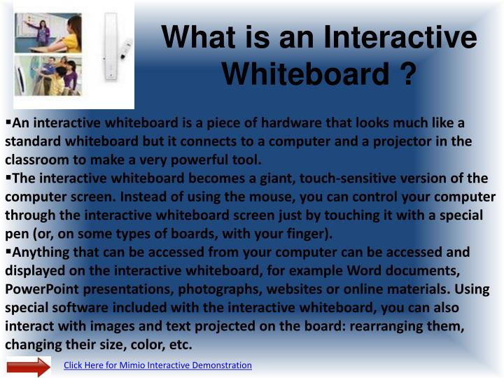 What is an interactive whiteboard