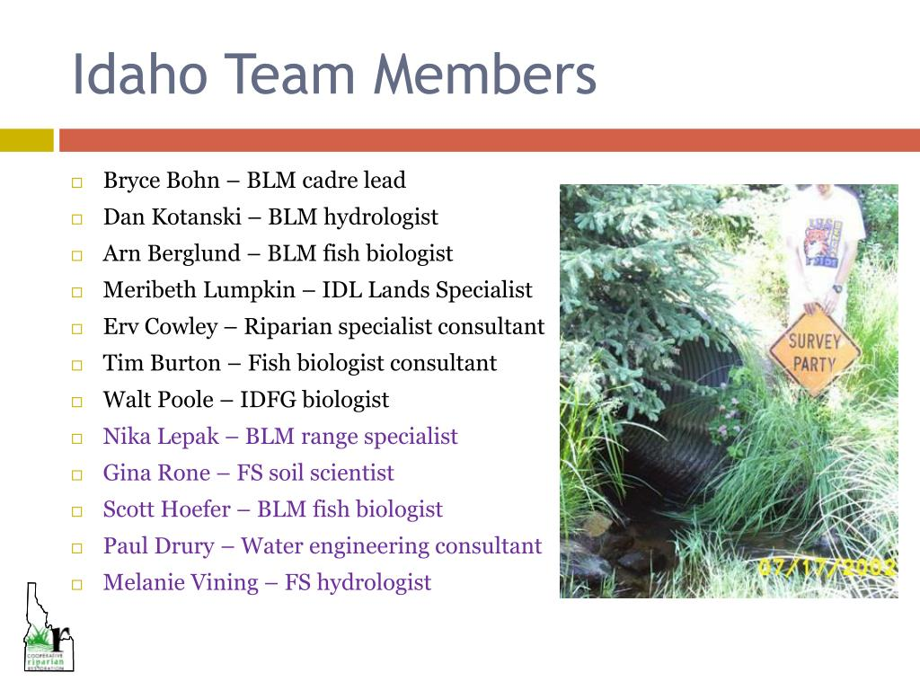 Idaho Team Members