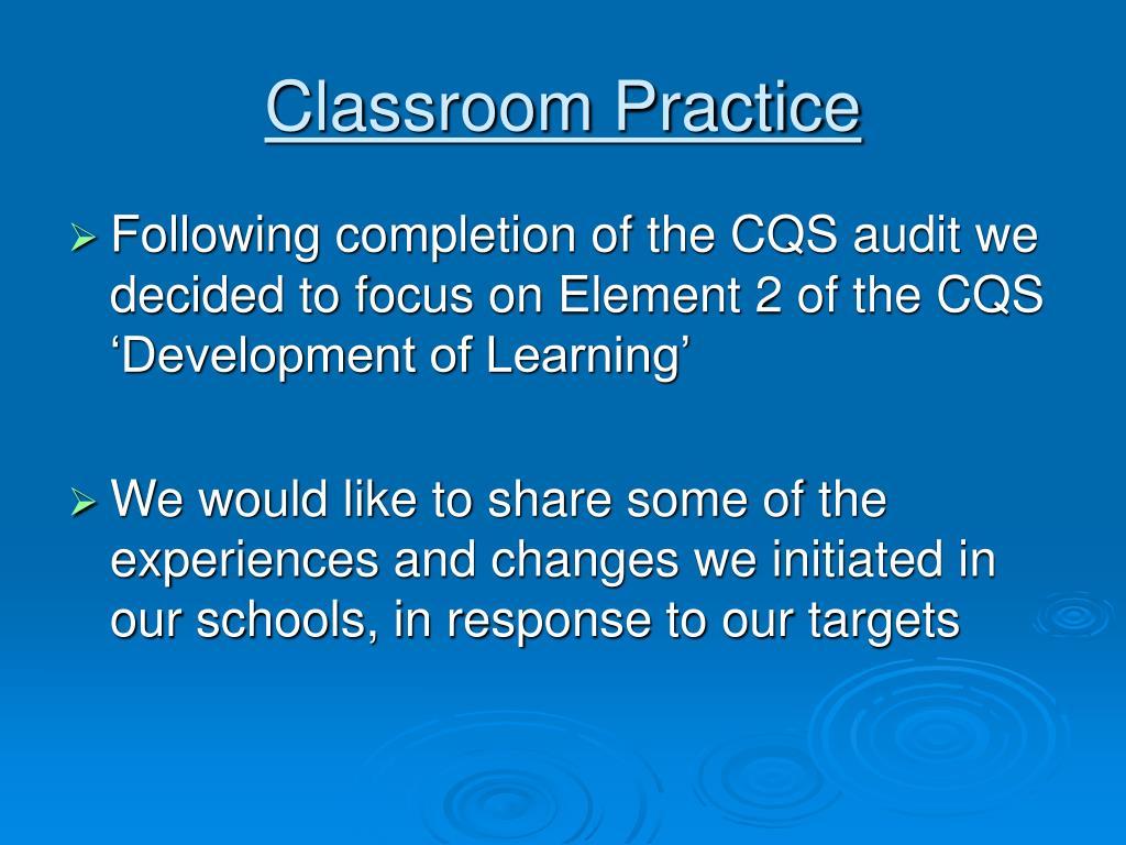 Classroom Practice