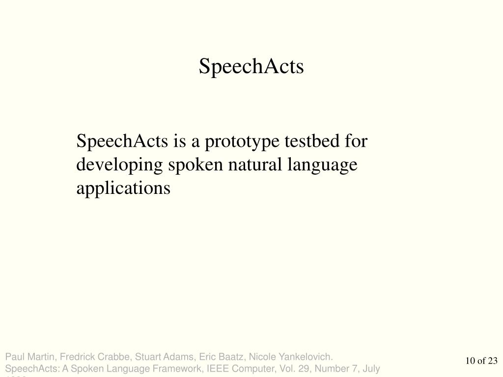SpeechActs