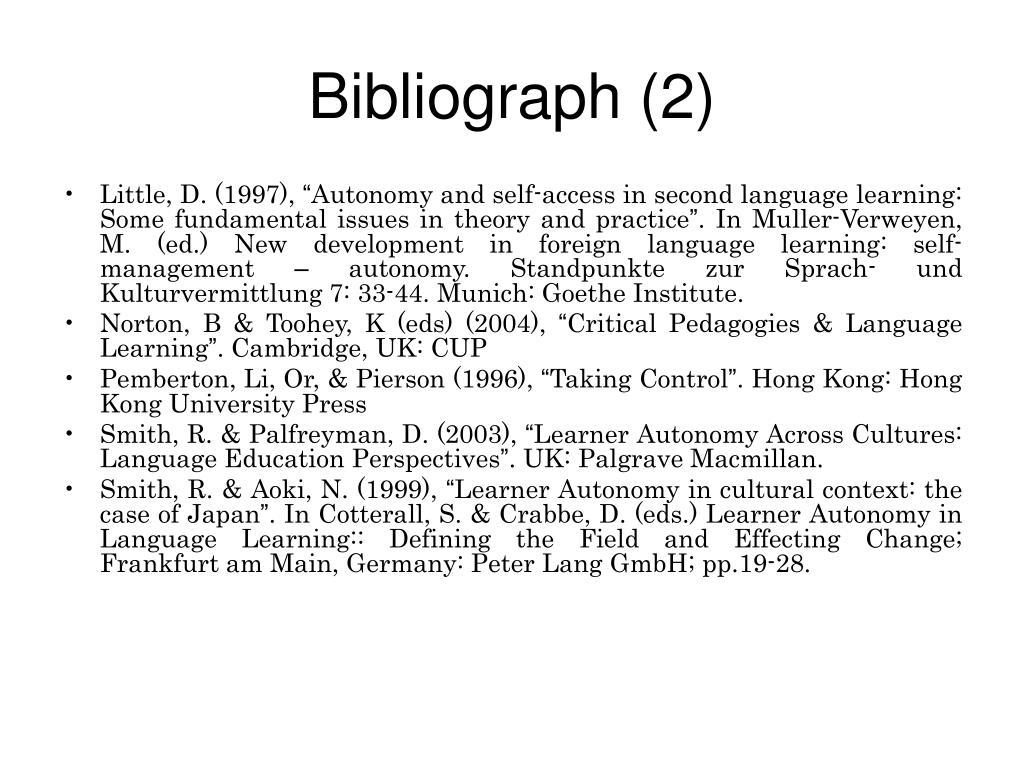 Bibliograph (2)