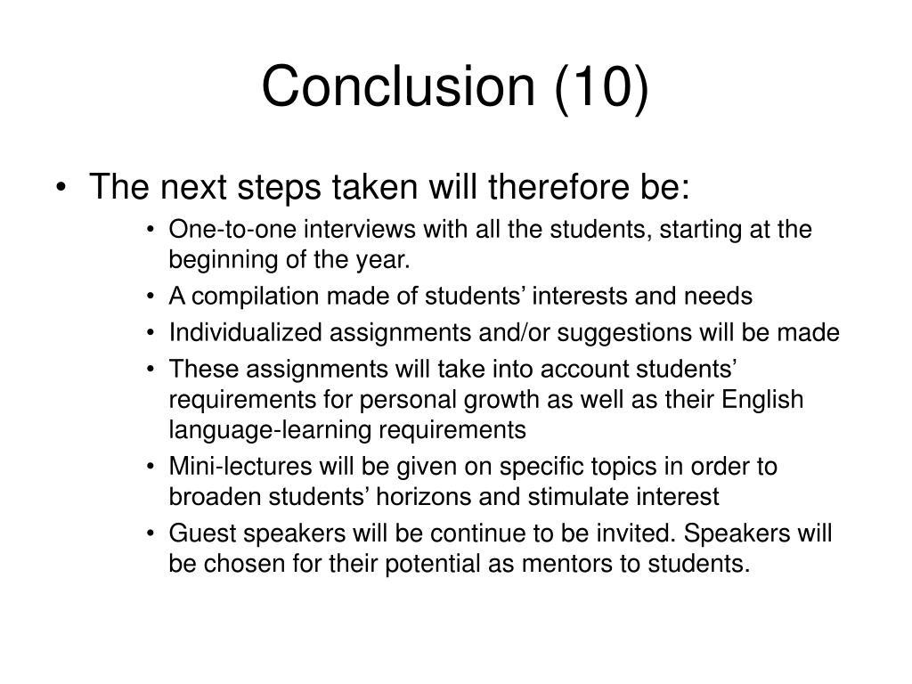 Conclusion (10)