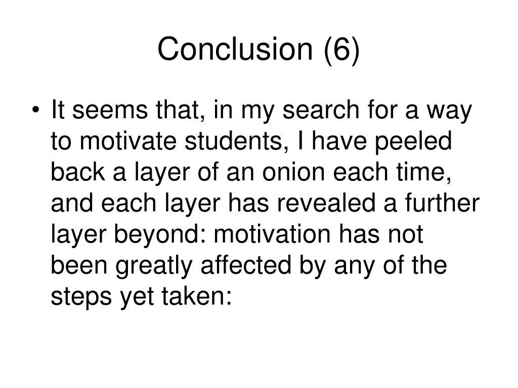 Conclusion (6)