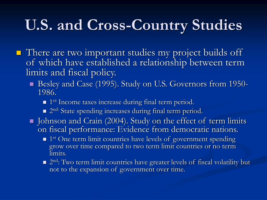 U.S. and Cross-Country Studies