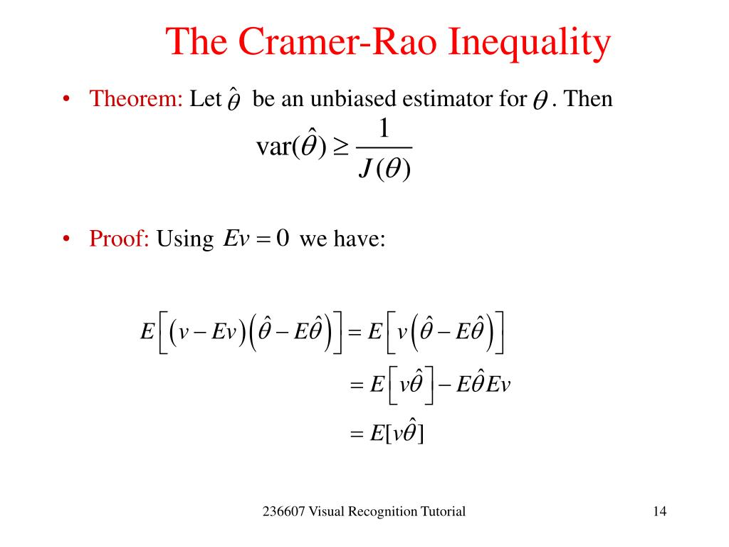 The Cramer-Rao Inequality