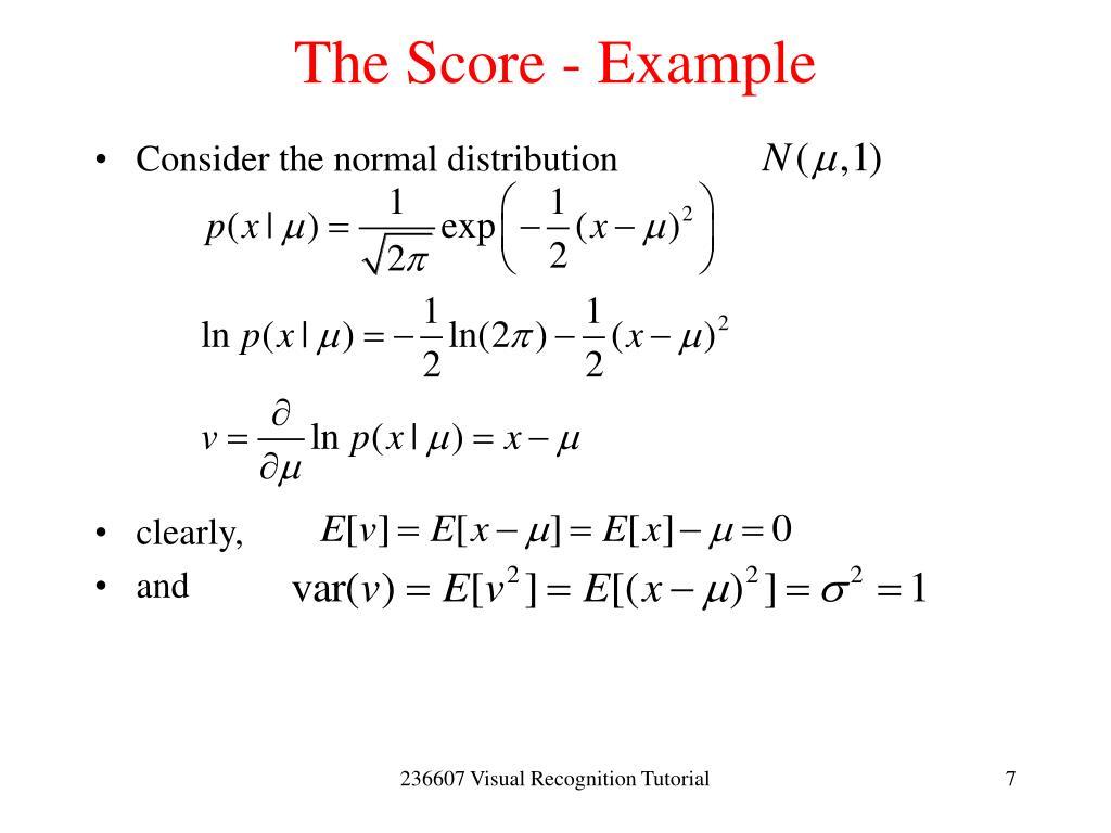 The Score - Example