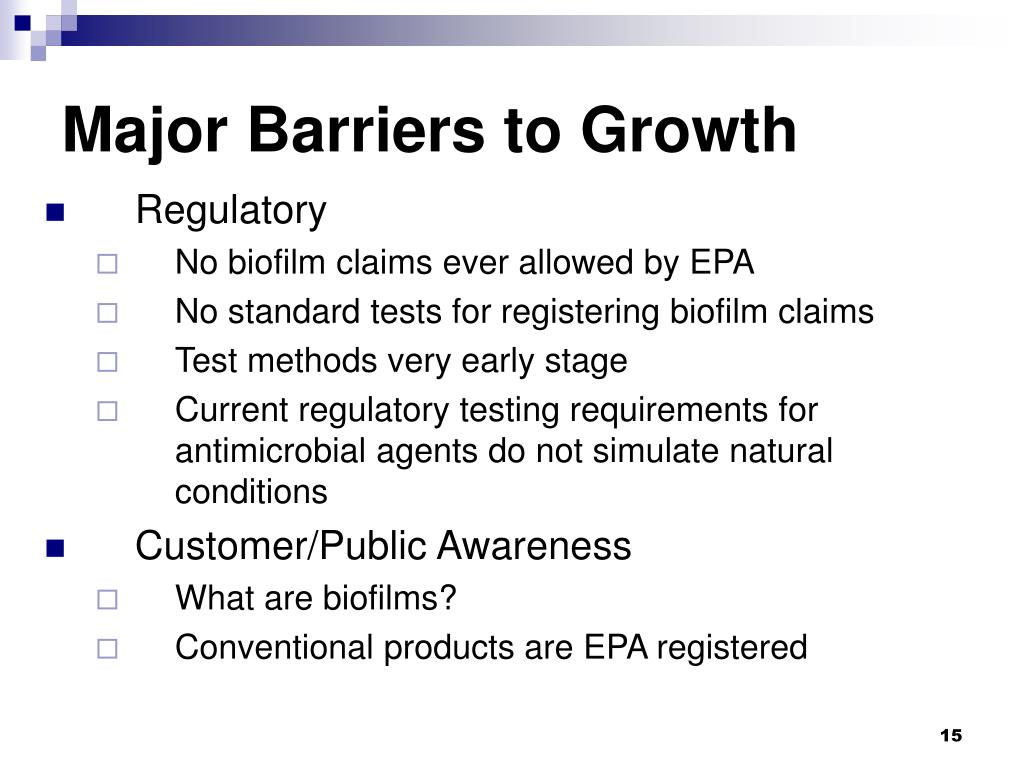 Major Barriers to Growth