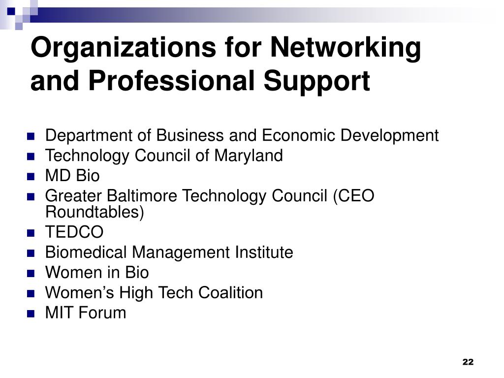 Organizations for Networking and Professional Support