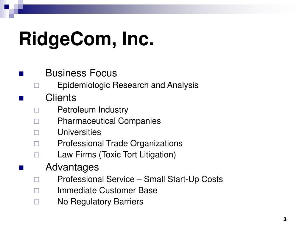 RidgeCom, Inc.