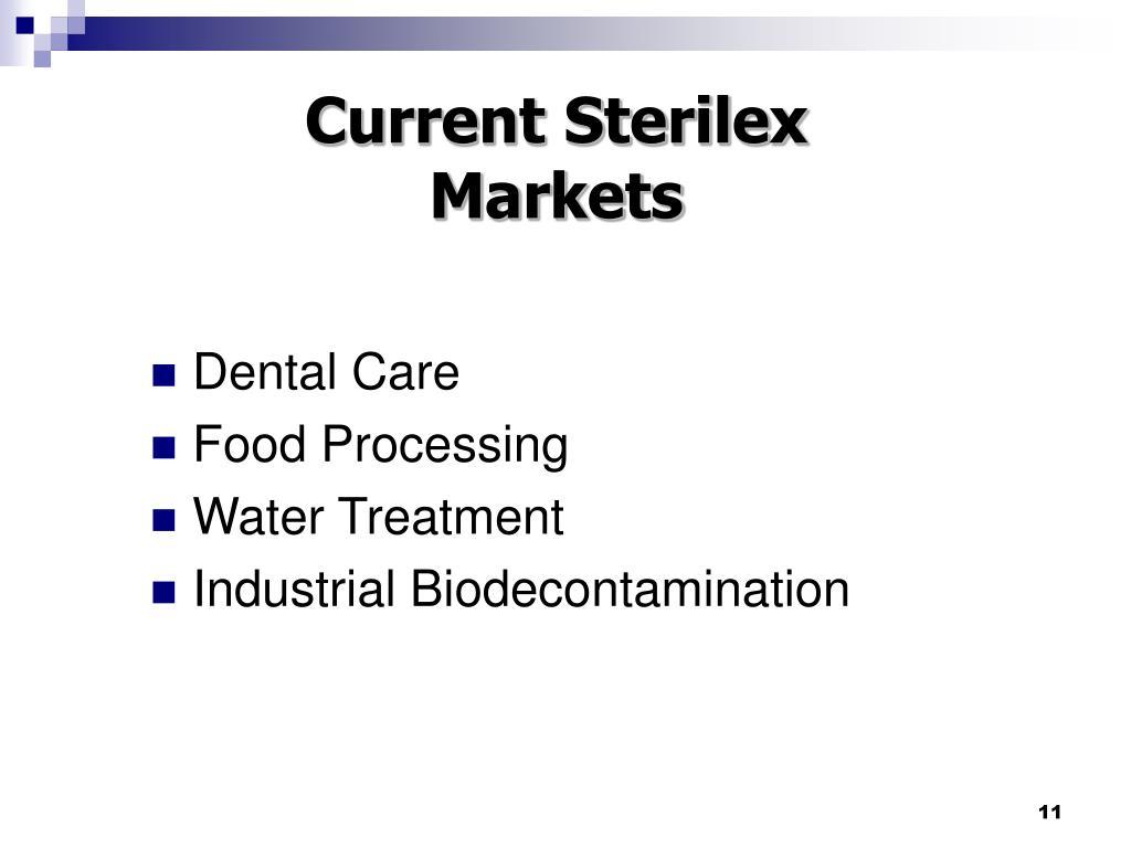 Current Sterilex Markets