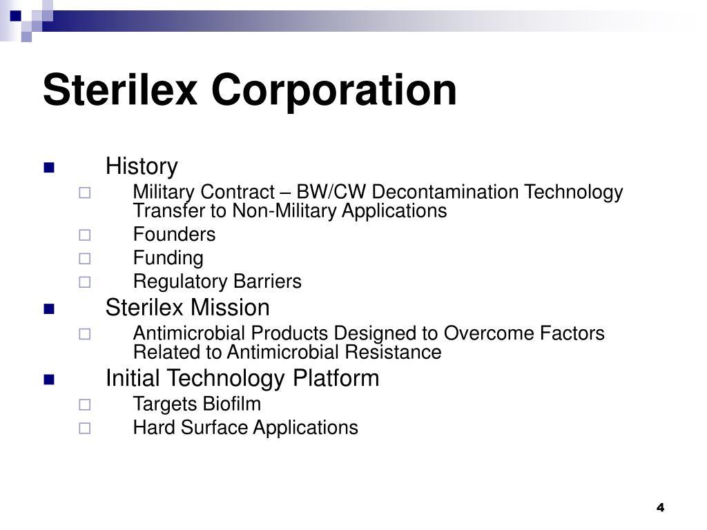 Sterilex Corporation
