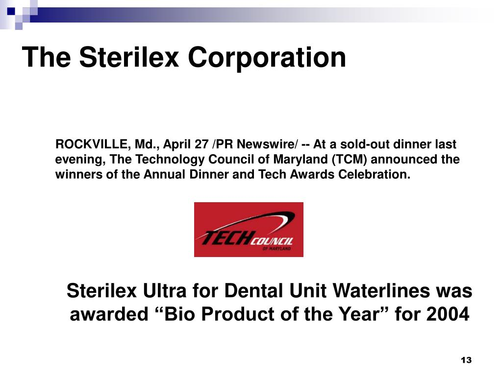 The Sterilex Corporation