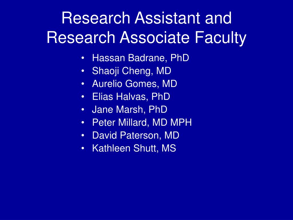 Research Assistant and