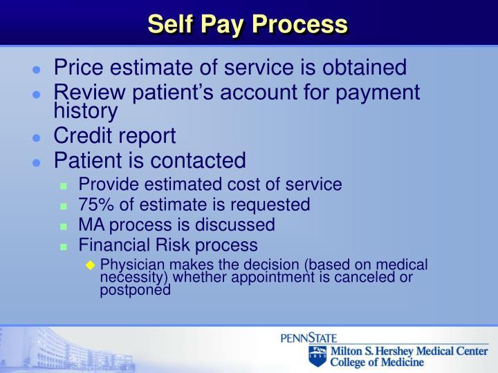 Self Pay Process