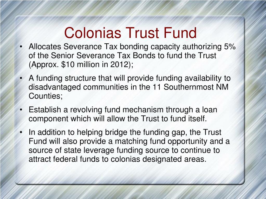 Colonias Trust Fund