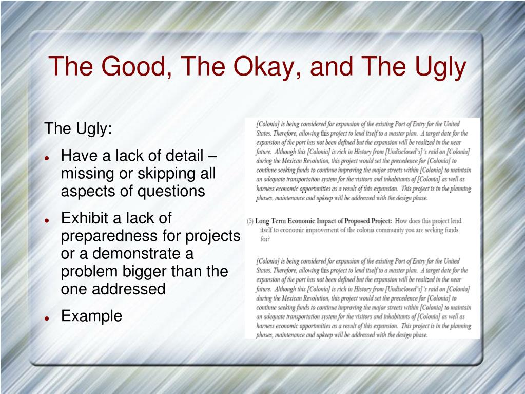 The Good, The Okay, and The Ugly