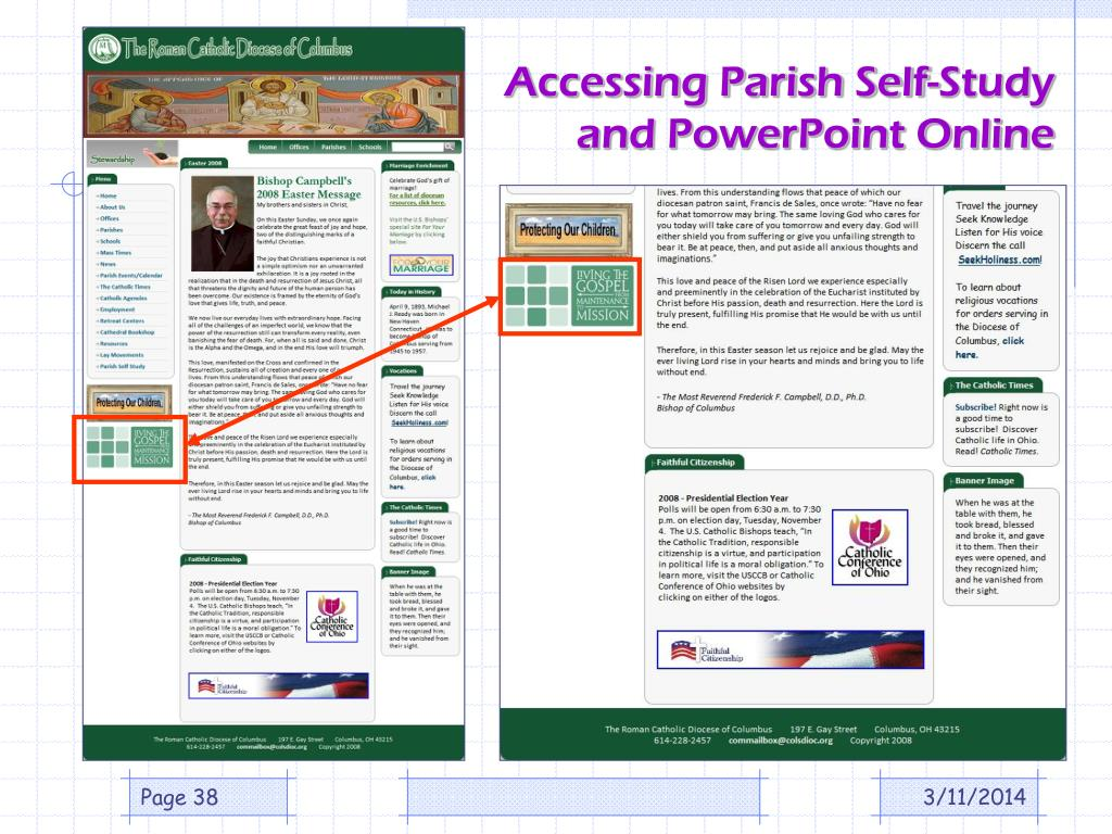 Accessing Parish Self-Study