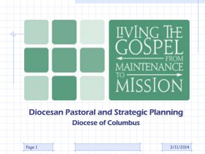 Diocesan Pastoral and Strategic Planning
