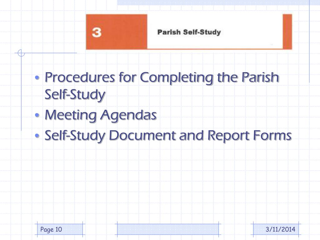 Procedures for Completing the Parish Self-Study