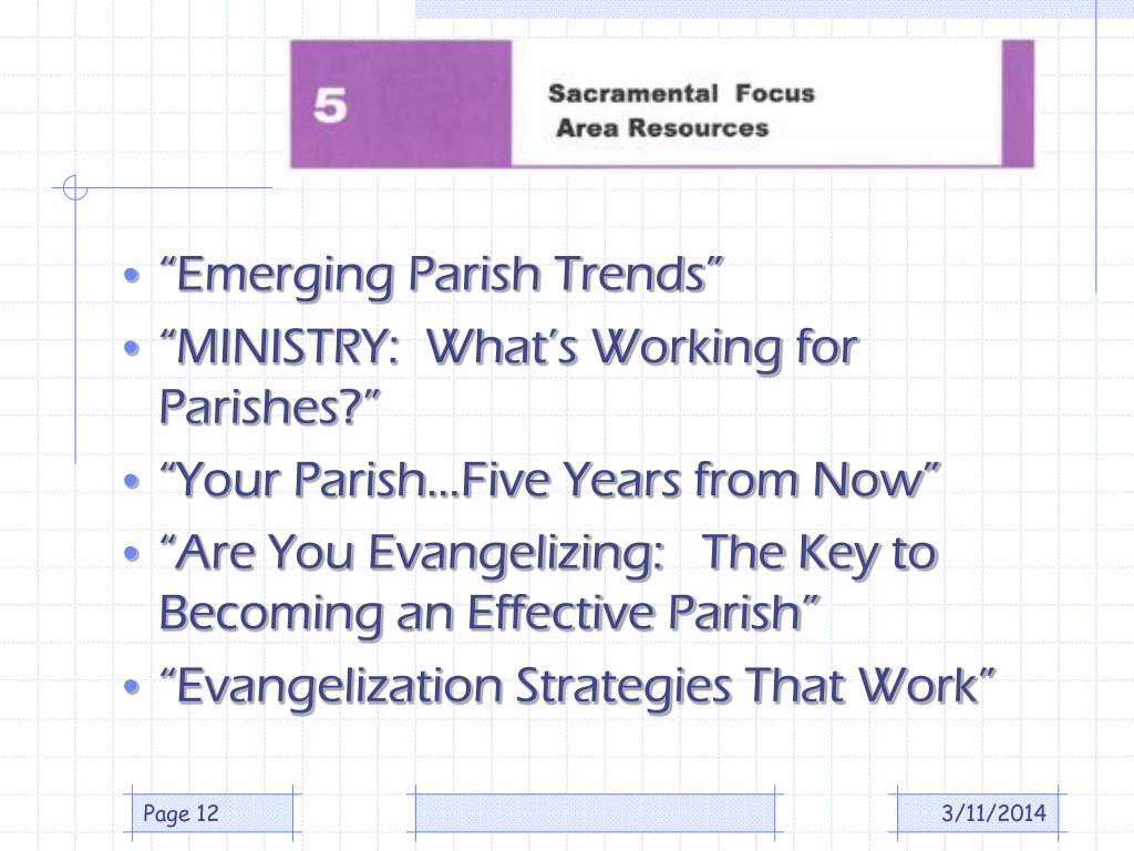 """Emerging Parish Trends"""