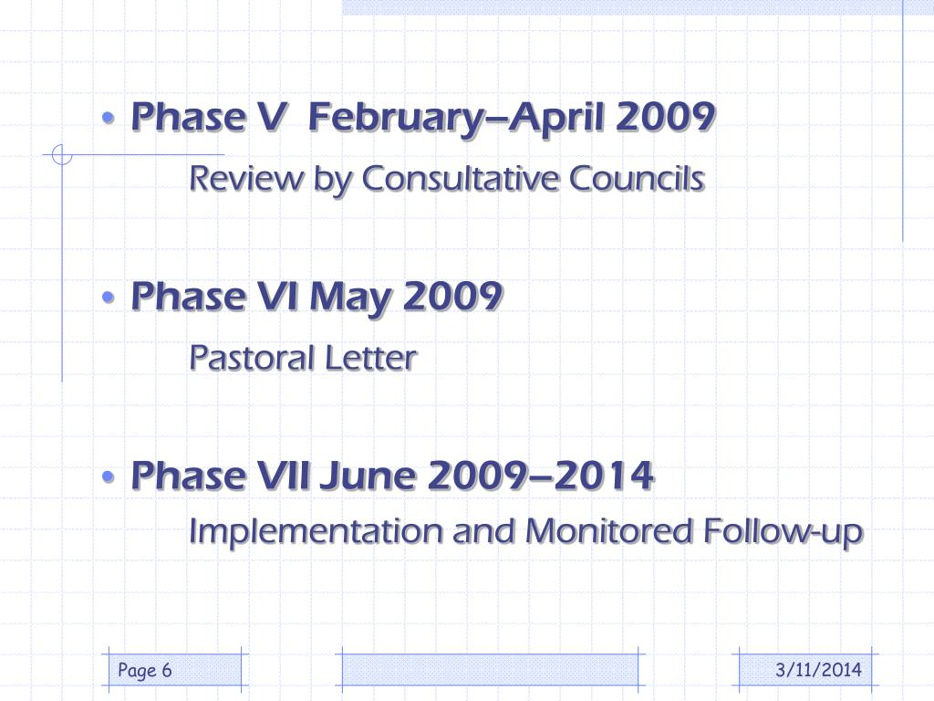 Phase V  February–April 2009